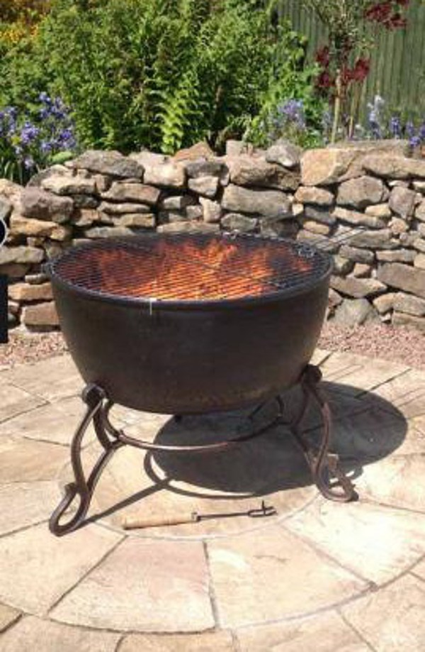 Extra Large Cast Iron Fire Bowl With Grill Savvysurf Co Uk