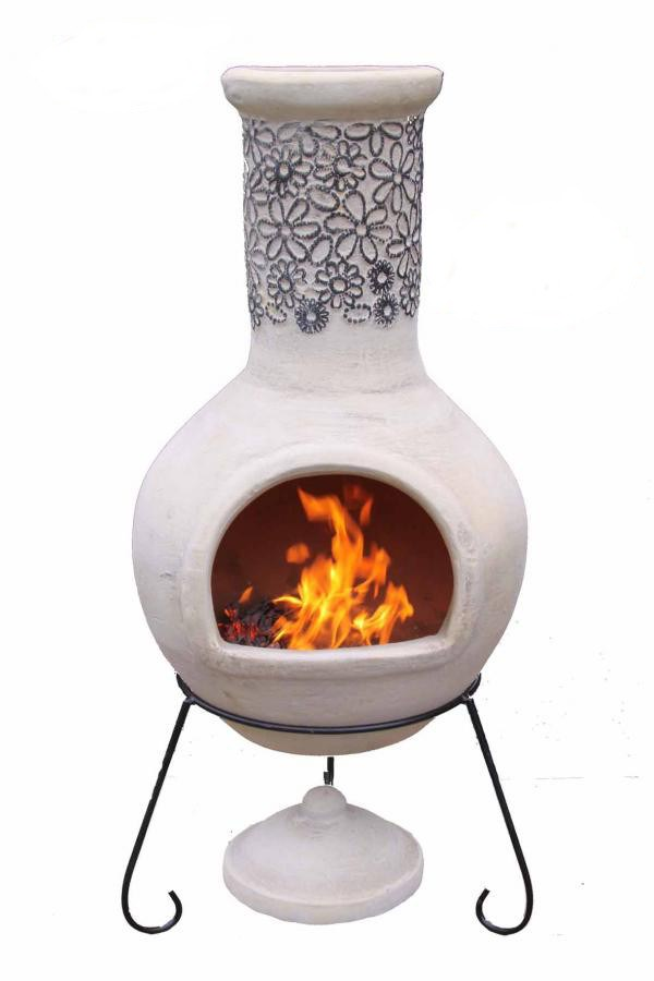 Extra Large Clay Chimenea