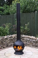 Extra Large Contemporary Steel Chimenea
