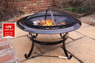 Extra Large Enamelled Steel Fire Pit
