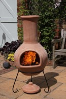 Extra Large Mexican Clay Natural Terracotta Chimenea