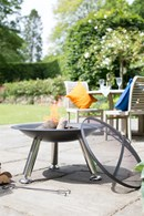 Extra Large Steel Firepit with Spark Guard