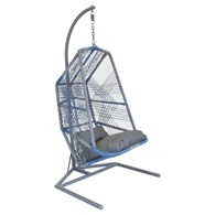 Faux Rattan Contemporary Garden Swing Chair