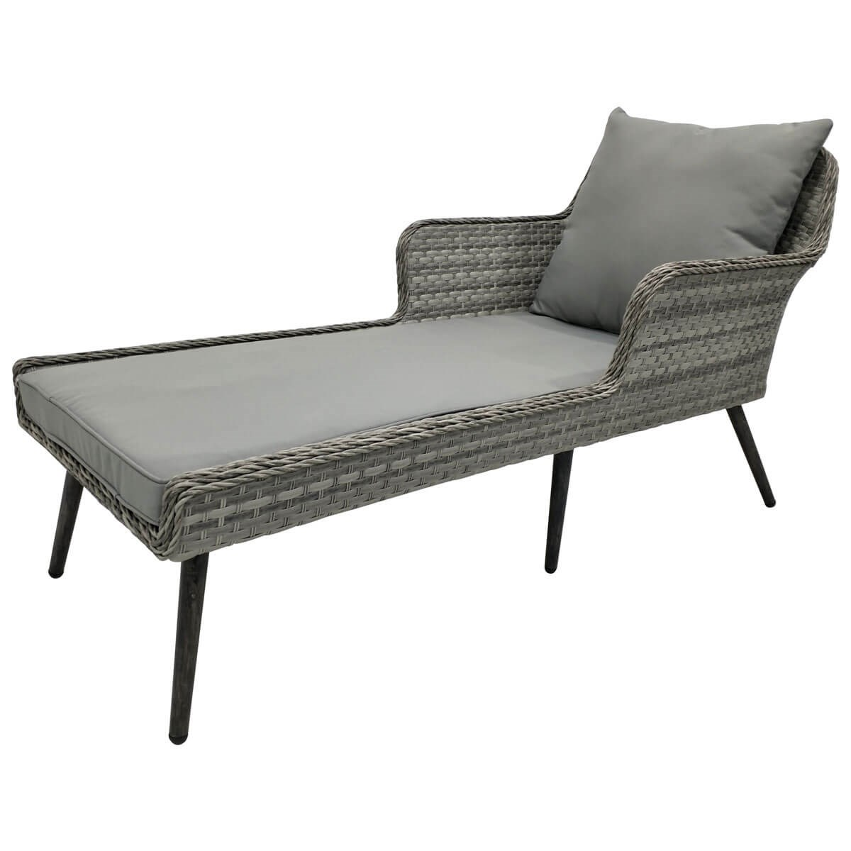 Faux Rattan Garden Chaise Longue Savvysurf Co Uk