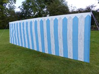 Fence Patterned Wind Break
