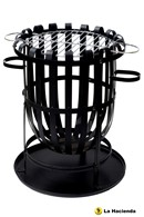 Fire Basket Incinerator and Barbeque in One