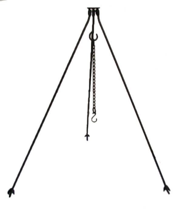 Firepit Tripod with Adjustable Cooking Chain