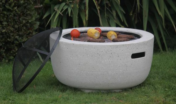 Firepit with BBQ Grill and Spark Guard
