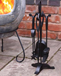 Steel Fireplace Companion Tool Set Chimenea Accessories