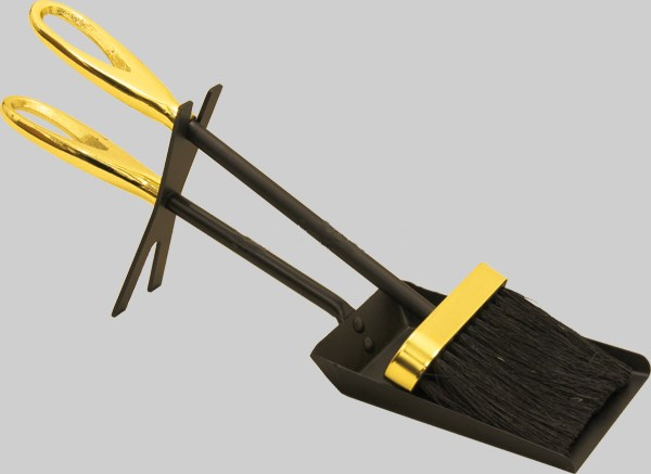 Fireplace Hearth Tidy 3 Colours Shovel and Brush