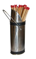 Fireplace Match Holder Free Matches and Striker