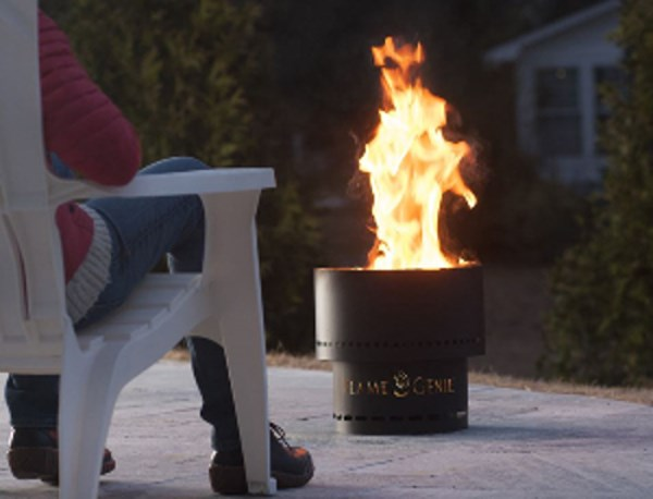 Flame Genie Fire Pit Smoke Free and Sparkless
