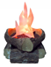 Flame Lamp with Artificial Logs