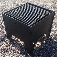 Fold Away Steel Firepit Optional Grill
