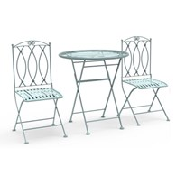Folding Green Bistro Set for Two