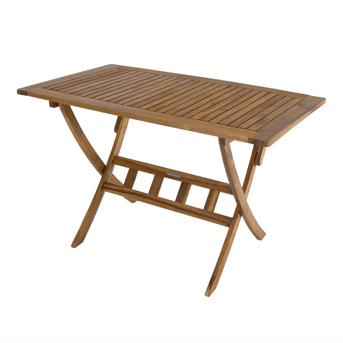 Folding Wooden Garden Table Rectangle