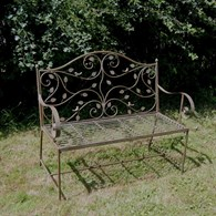 Forest Style Steel Garden Bench Rusty