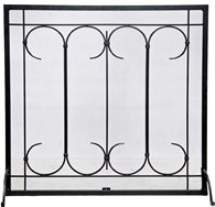 Free Standing Iron Fire Screen
