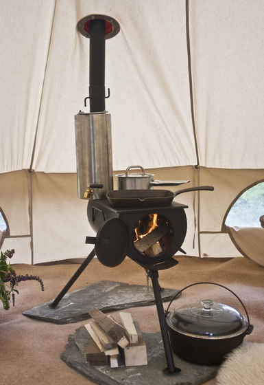 Frontier Portable Wood Burning Stove With Water Heater