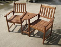 FSC Wooden Bench Bistro Set
