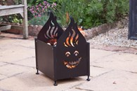 Funky Fire Pit with Smiley Face