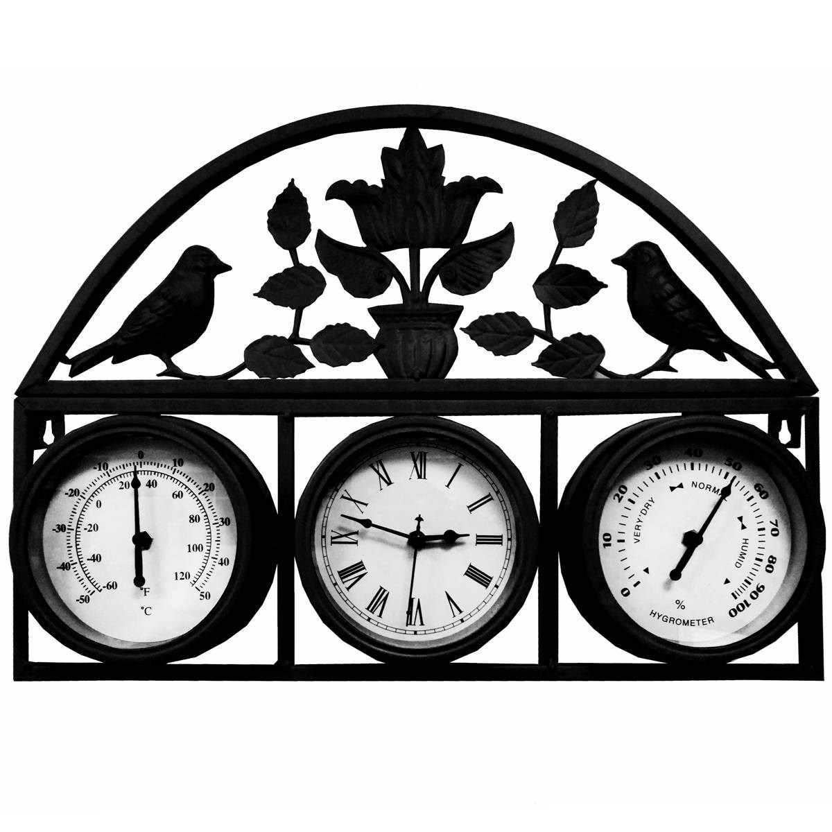 Garden Wall Clock Amp Thermometer Garden Wall Clock Garden