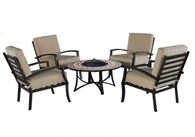 Garden Furniture Set with Fire Bowl Table