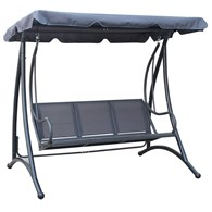 Garden Swing Bench with Canopy Shade