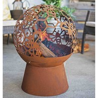 Globe Firepit with Bees