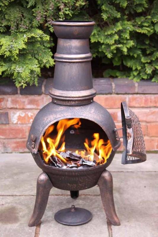 Cast iron with steel chimenea all sizes - Chimeneas orus ...