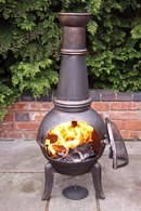 Cast Iron with Steel Chimenea All Sizes