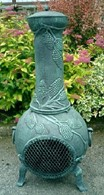 Grape Design Solid Cast Iron Chimenea