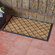 Hard Wearing Coir and Rubber Door Mat