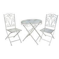 Heritage Bistro Set Garden Table with Two Chairs