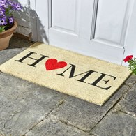 Home Door Mat with Heart