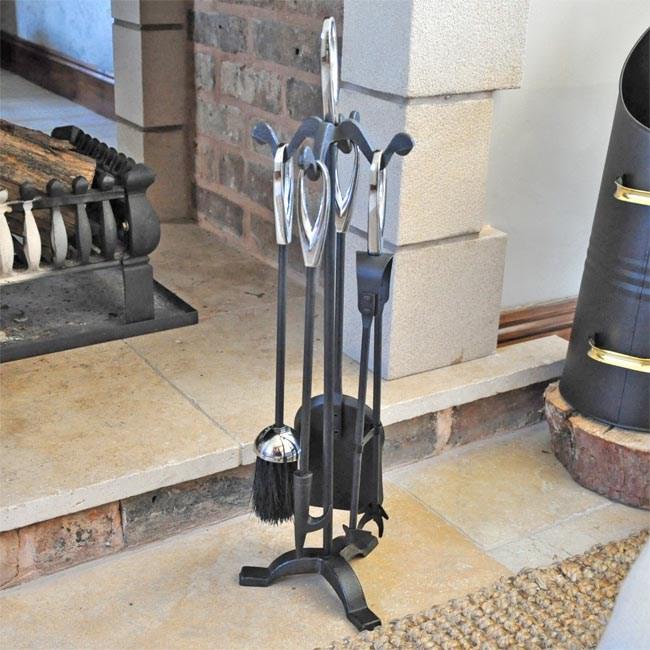 Iron Companion Set Black with Brass