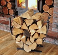 Designer Log Basket Holder