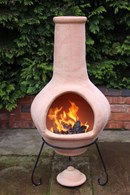 Jumbo Natural Terracotta Clay Chimenea