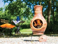 Keep Warm Clay Chimenea Garden Heater