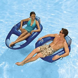 Kelsyus Floating Chair Inflatable Pool And Beach Lounger