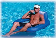 Kelsyus Floating Chair Inflatable Pool Chair and Beach Lounger