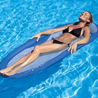 Kelsyus Floating Hammock Pool Beach Lounger Water Lilo