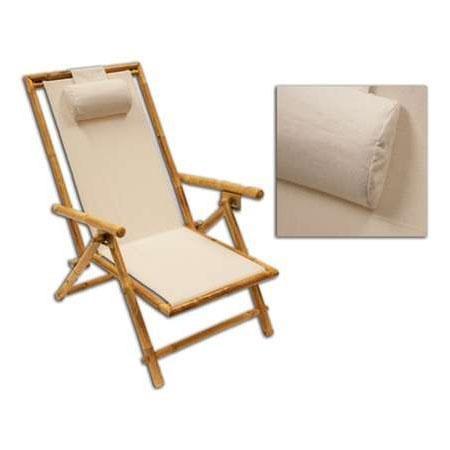 Remarkable Kelsyus Sit Bamboo Beach Recliner Deck Chair Inzonedesignstudio Interior Chair Design Inzonedesignstudiocom
