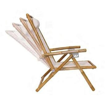 Kelsyus Sit Bamboo Beach Recliner Deck Chair  sc 1 st  Savvysurf : bamboo recliner chair - islam-shia.org