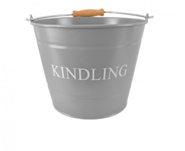 Kindling Bucket Grey or Cream 2 Sizes