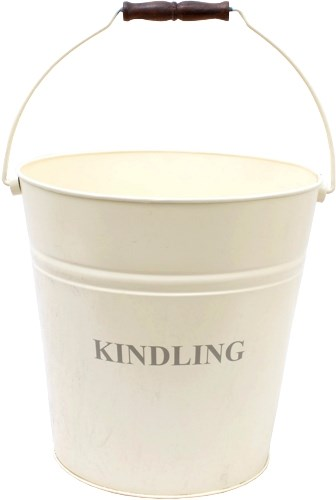 Kindling Bucket in Ivory or Black