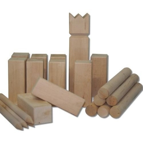 Kubb Birch Wooden Family Garden Game Viking Chess