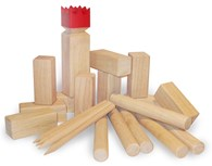 Kubb Original with Red King Garden Game