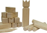 Kubb Rubber Wood Family Garden Game Viking Chess