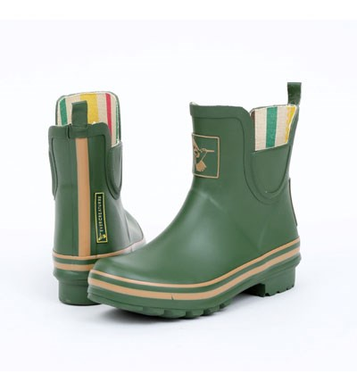 Ladies Evercreatures Ankle Wellies Garden Green